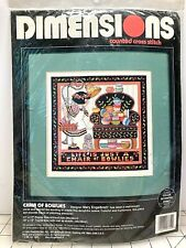 Vintage Mary Englebreit Chair of Bowlies 3752 Counted Cross Stitch Kit