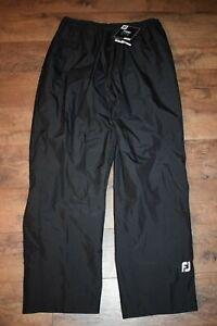 FootJoy Men's HydroLite Golf Rain Pants 35531 Size XL (Black) NWT