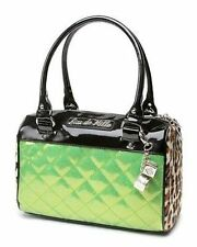 Lux De Ville Mini Atomic Tote Black Green Sparkle Punk Rocker Goth Handbag Purse