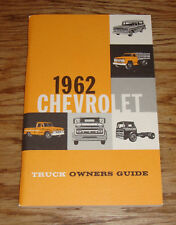 1962 Chevrolet Truck Owners Operators Manual 62 Chevy Pickup