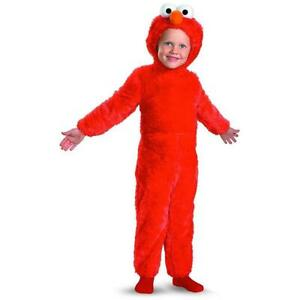 Sesame Street Elmo Plush Fur size M 3T/4T Toddler Kids Costume Outfit Disguise