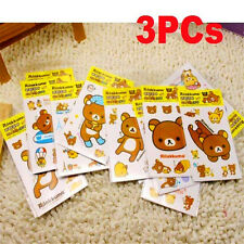Rilakkuma San-X Relax Bears Stickers For Home Stationery Moblie 3PCs
