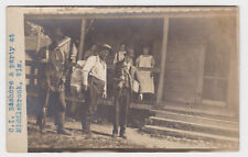 Early Wisconson Fly Fishing RPPC - C.I. Bashore Middlebrook WI Postcard Velox