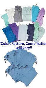 Scrub Pants, No Color, Pattern, Style Choice, May Have Logos, 12/Pack