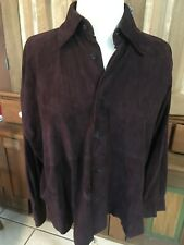 Eskandar Womens Suede 100% Leather Plum/Eggplant Lux Boxy Jacket Shirt Sz 0