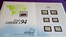 hojas sellos america upaep, Efilcar especial 1994.