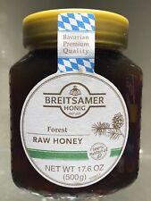 Breitsamer Forrest Raw Honey Jar, 17.6 oz (500g) Product of Germany