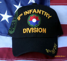 9TH INFANTRY DIVISION ID HAT US ARMY CAP WOWAH PIN UP OLD RELIABLE VETERAN GIFT