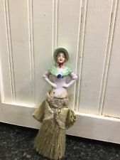 Antique Half Doll Brush German green