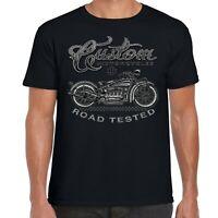 Mens Biker T-Shirt Big And Tall Motorcycle Motorbike USA Chopper Bobber Bike 208
