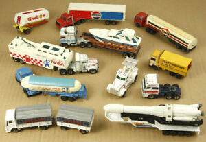 Vintage Toy Trucks Lot 1/80,1/87,1/90,1/100 Matchbox & Majorette