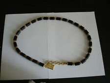 """Givenchy Black And Gold Tone Bead Belt Vintage About 26"""" Waist"""