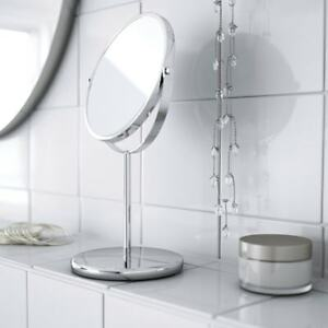 IKEA TRENSUM Stainless Steel Standing Double Sided Magnifying Table Mirror