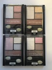 4 X Maybelline Eyeshadow Quads Luminous Lights: Rose, Gold, Opal, Lavender