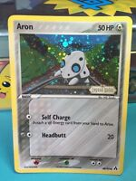 "Aron 48/92 ""Stamped"" Ex Legend Maker  Holo Pokemon Card EX+VG"