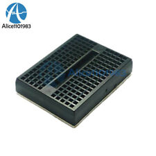 2PCS Mini Black Solderless Prototype Breadboard 170 Tie-points F Arduino Shield