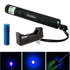 Bright 500Miles Blue Purple Laser Pointer Pen 405nm Visible Beam+18650+Charger