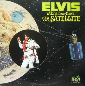 ELVIS ALOHA FROM HAWAII QUAD 2 RECORD SET ORIGINAL INNERS VINYL NEAR MINT!