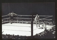 REAL PHOTO 1927 JACK DEMPSEY BOXING FIGHT RING POSTCARD COPY