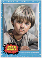 🛑👀 TOPPS STAR WARS LIVING SET CARD YOUNG ANAKIN #62 STAR WARS PHANTOM MENAC 🔥