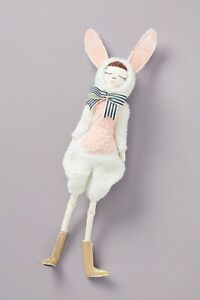 Anthropologie Cat In The Shoe Girl Doll Rabbit Costume Bunny Stuffed Animal NWT