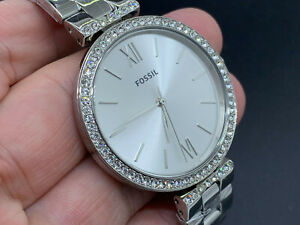 NEW OLD STOCK FOSSIL ES4539 WATER RESISTANT 5 ATM QUARTZ WOMEN'S WATCH