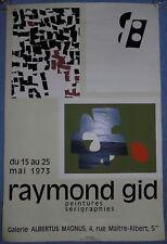 1973 Paris - Vintage Raymond Gid exhibition poster - affiche exposition d'art