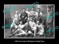 OLD POSTCARD SIZE PHOTO OF THE UNIVERSITY OF MICHIGAN FOOTBALL TEAM c1884