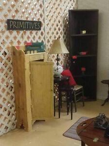 Handmade Jelly Cabinet Cupboard, 3 shelves, 53x17x21, custom order