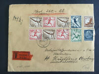 1936 Osnabruck Germany Olympic  Cover to Oberburg Red Wax Seals