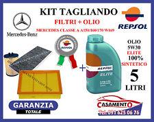 KIT TAGLIANDO OLIO REPSOL 5W30 5LT + FILTRI MERCEDES CLASSE A 150 160 170 W169