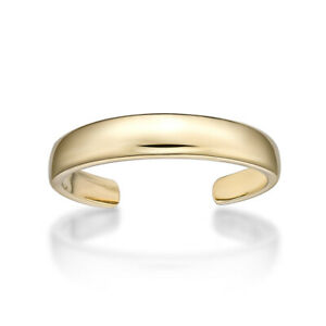 10K Yellow Gold 3MM Toe Ring