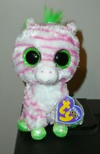 """PR/NM* Ty Beanie Boos - SAPPHIRE the Zebra 6"""" (Justice) MINT TAGS (PLEASE READ)"""