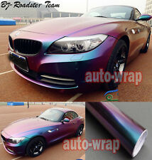 Entire Car Wrap Flat Glossy Chameleon Vinyl Sticker Green Purple - 50FT x 5FT AC