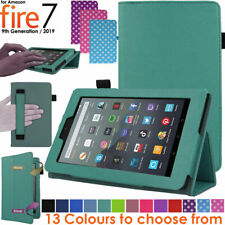"""for Amazon Fire 7"""" 2019 9th Generation Leather Flip Smart Case Stand Cover"""