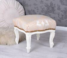 Stool Baroque Seating Bench Fussbänkchen White Bench Foot Stool Sitting Stool