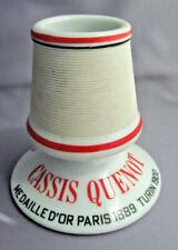Vintage French Cassis Quenot Advertising Ceramic Match Striker HOLDER Paris