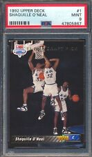 47805867 1992 Upper Deck 1 Shaquille O'Neal Draft Pick RC Rookie PSA 9 MINT