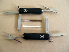 Lot of 2 Victorinox Classic SD Swiss Army Pocket Knife Classic Black - Very Good