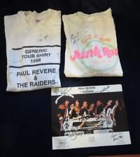 Paul Revere and the Raiders autographed photo 1996 2 signed T shirts 1990 1998
