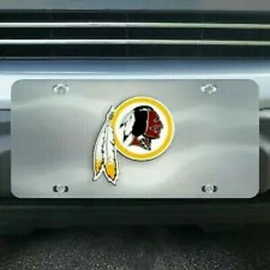 Washington Redskins Chrome Die Cast License Plate