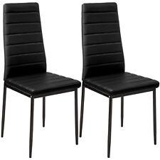 Sillas de Comedor de Poli Piel Juego Elegantes Sillas de Diseño Modernas Negro