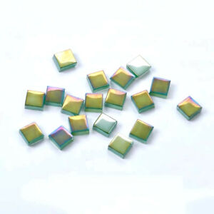 Symphony Glass Mosaic Tiles for Crafts Square Mosaic Tiles 10x10mm Bulk 50pcs