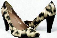 2b5dae18c96 Calvin Klein Elara Black natural Tan Leopard Fabric Pump HEELS Shoe 6.5m