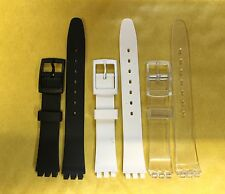 Replacement 12mm (14mm) Resin Watch Straps For SWATCH