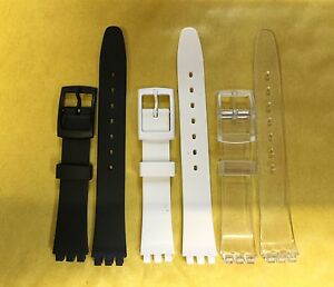 Plastic Resin SWATCH Replacement Watch Strap -12mm in 3 Colours