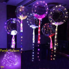 LED Light Balloons Transparent Balloon Wedding Birthday Xmas Party Lights Decor.