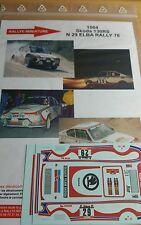 Decals 1/18 réf 1004 Skoda 130 RS Elba rally 1978 n 29