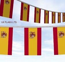 More details for 30 metre's spain flags party bunting spanish bandeira de españa