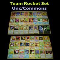 Team Rocket Common Cards COMPLETE SET 24 Cards Pokémon M//NM 49-70,78,79